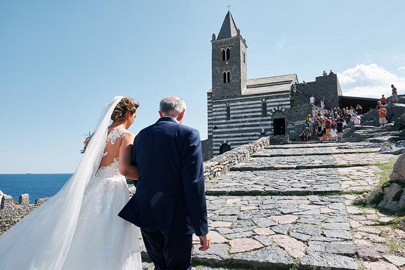 arrivo sposa San Pietro matrimonio Portovenere