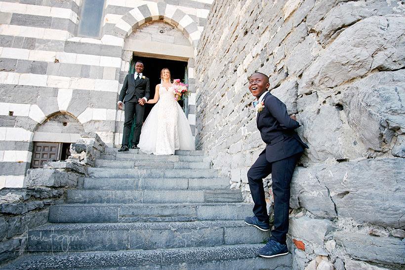 uscita sposi San Pietro matrimonio Portovenere