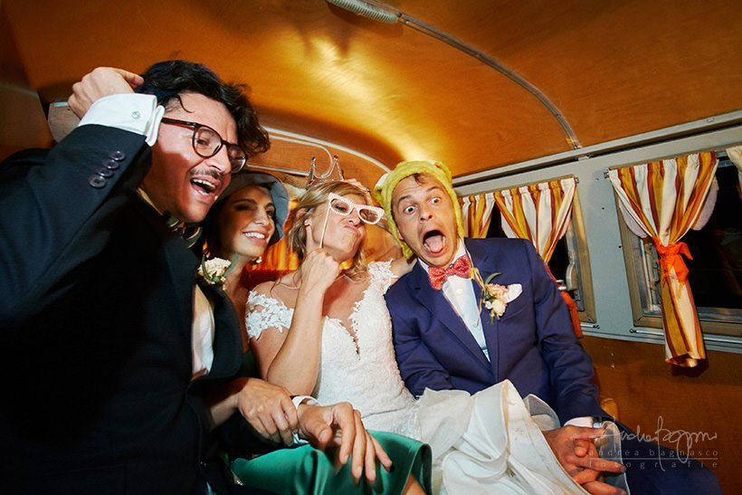 vintage photo bus matrimonio