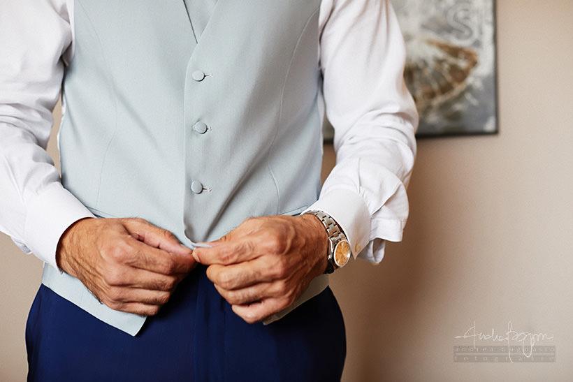 dettagli preparazione sposo