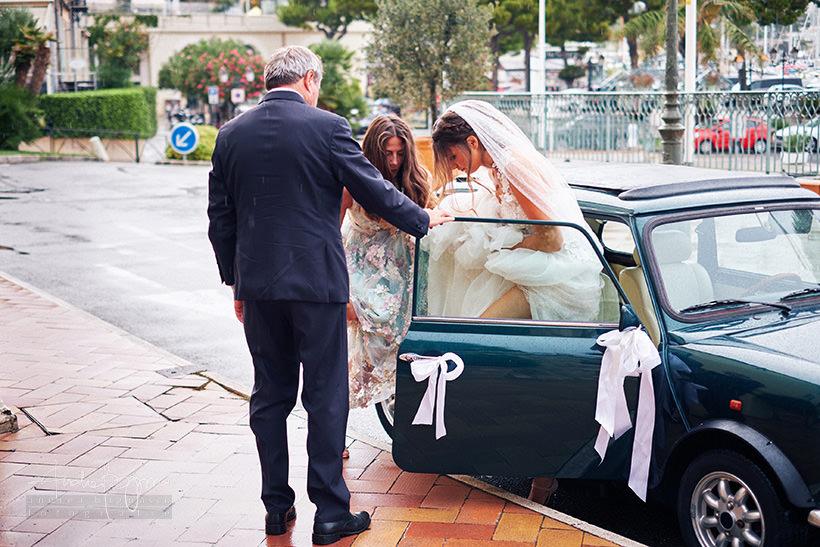 arrivo sposa matrimonio st jean cap ferrat