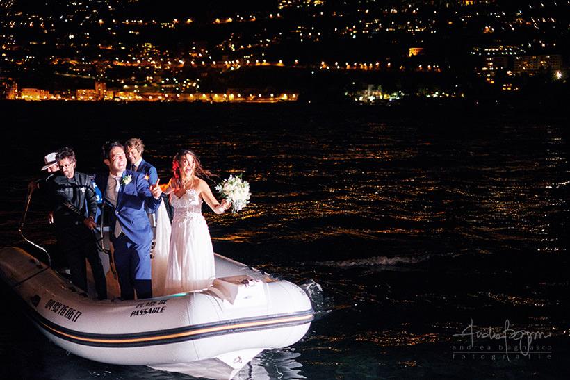 arrivo sposi matrimonio plage de passable