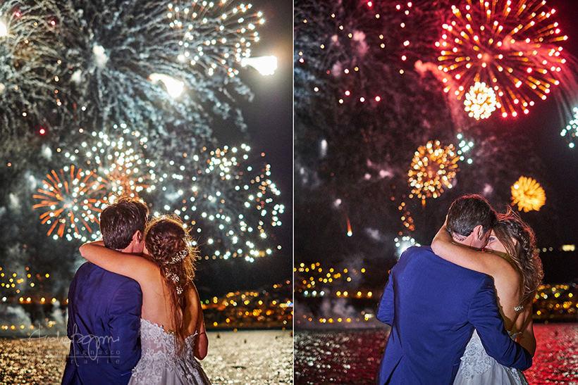 fuochi d'artificio matrimonio plage de passable