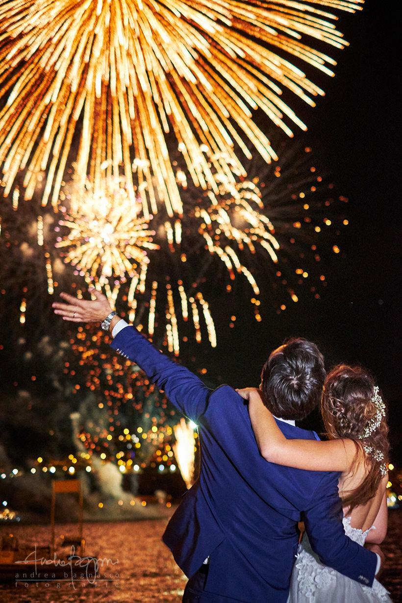 fuochi artificio matrimonio plage de passable