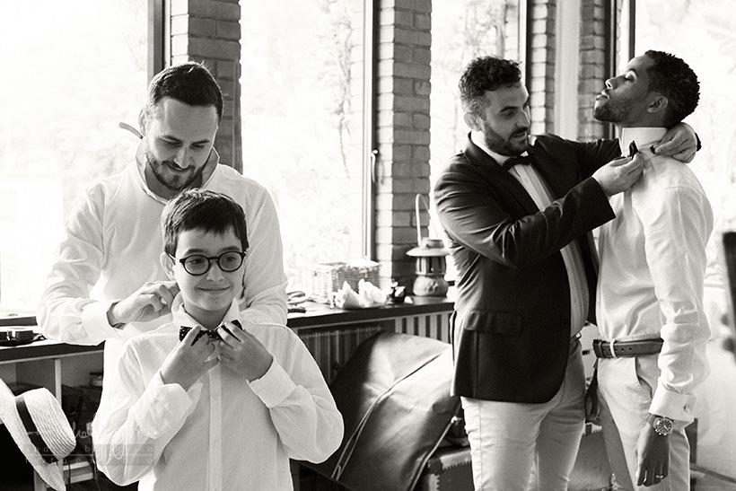 preparazione testimoni sposo