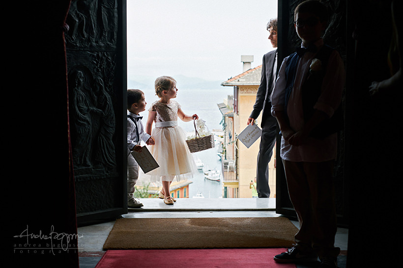 flower girl italian riviera wedding