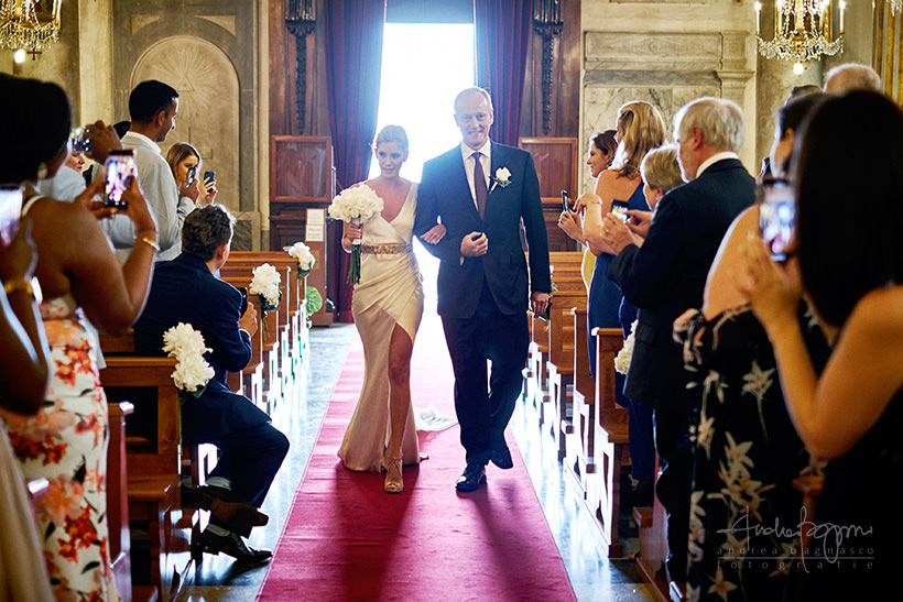 bride processional italy wedding