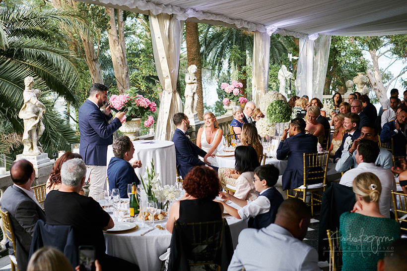 wedding speeches villa durazzo santa margherita