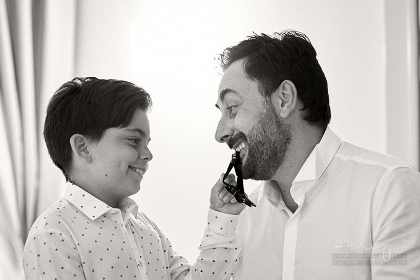 padre e figlio matrimonio portofino