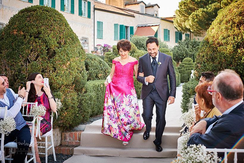 ingresso sposo matrimonio portofino