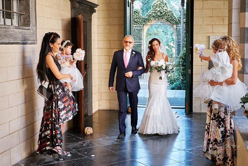 arrivo sposa matrimonio la cervara portofino