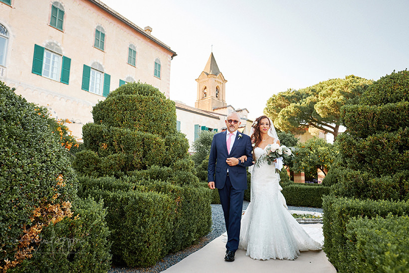 ingresso sposa matrimonio portofino