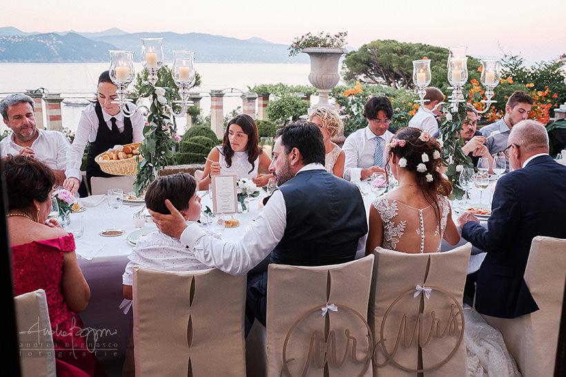 cena nuziale matrimonio la cervara portofino