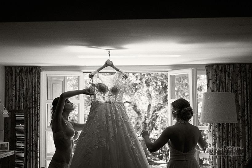 preparazione sposa abito