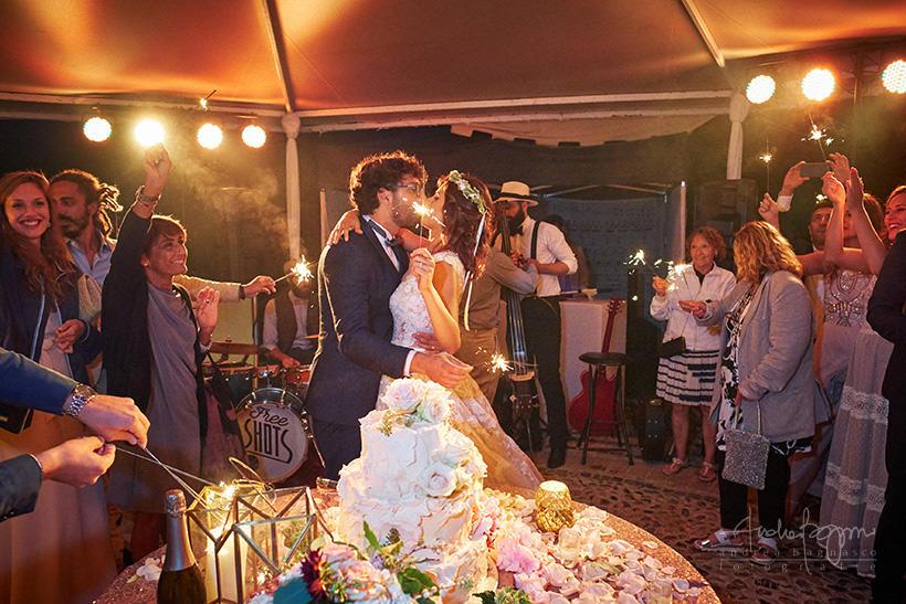 taglio torta matrimonio la ginestra