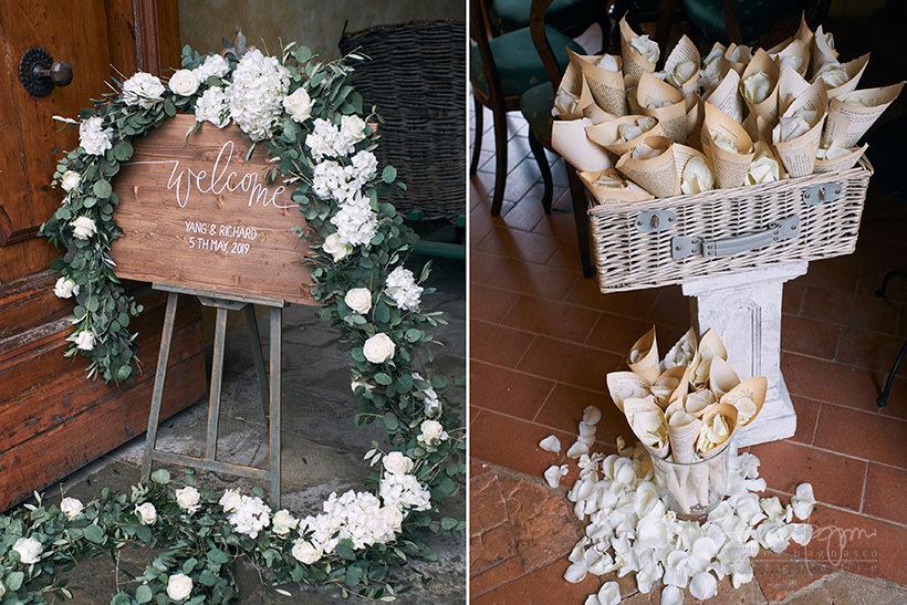 dettagli matrimonio villa medicea di Lilliano Firenze