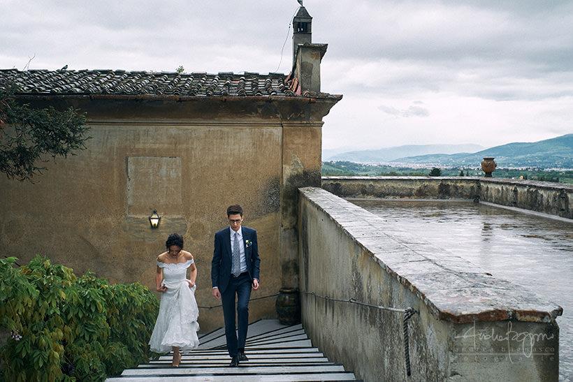 sposi matrimonio villa medicea di Lilliano