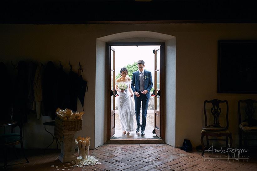 ingresso sposi matrimonio villa medicea di Lilliano Firenze