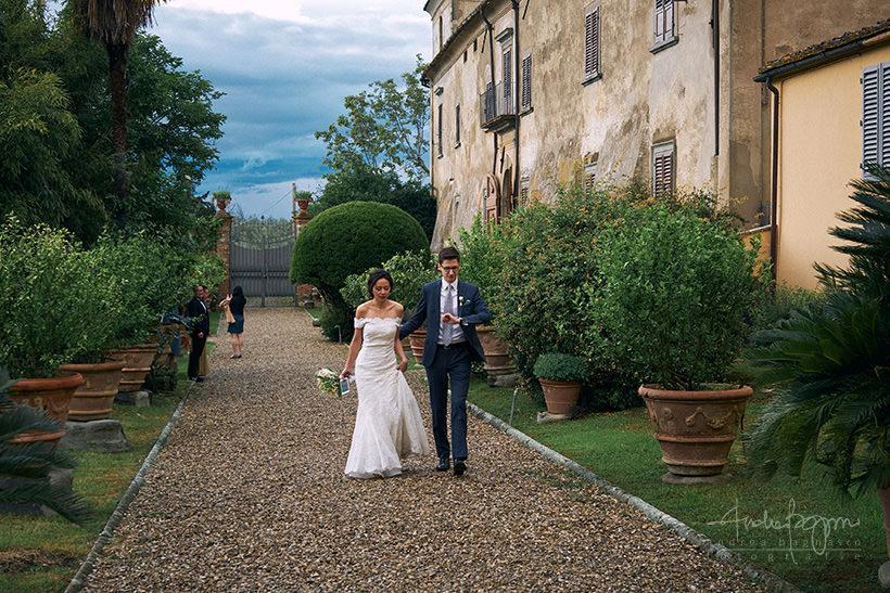 sposi villa medicea di Lilliano Firenze