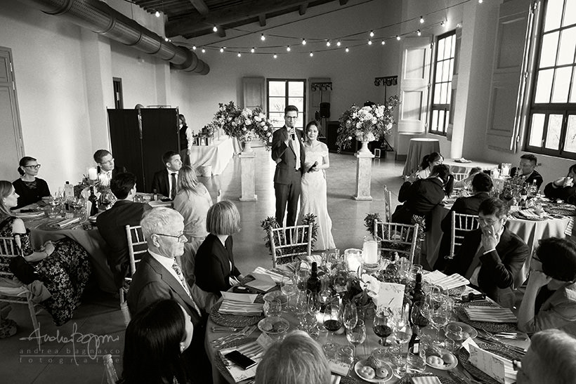 bride and groom speech during wedding