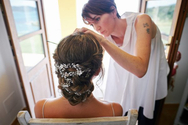 bride makeup wedding in portovenere