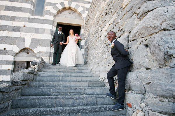uscita sposi matrimonio portovenere