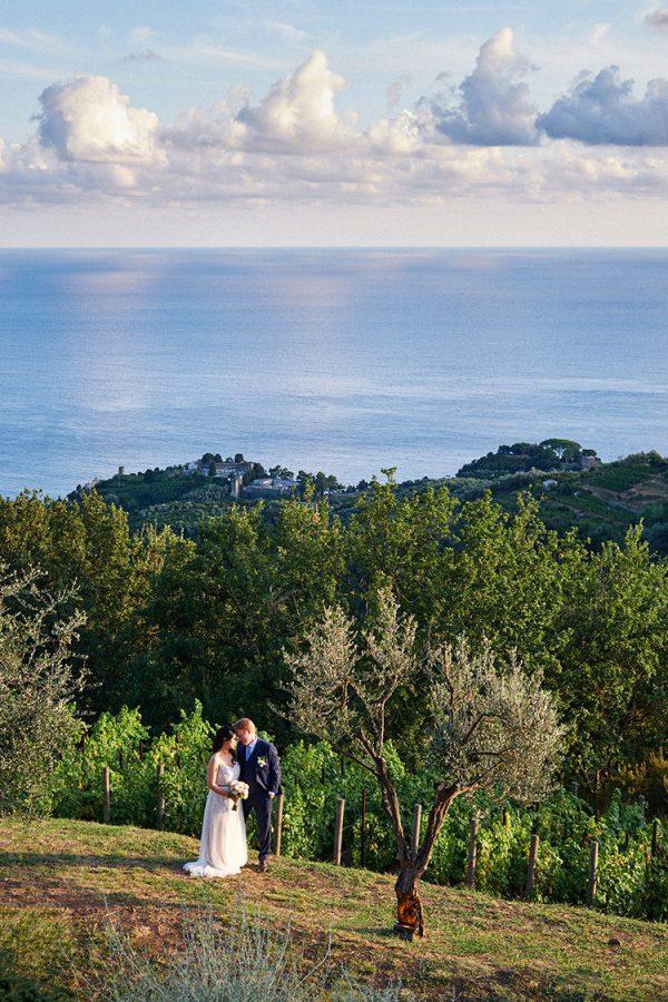 bride and groom portrait eremo della maddalena