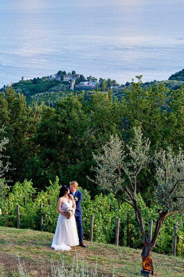 bride and groom portrait wedding eremo della maddalena