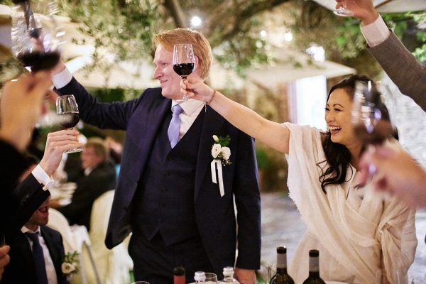 bride and groom wedding eremo della maddalena