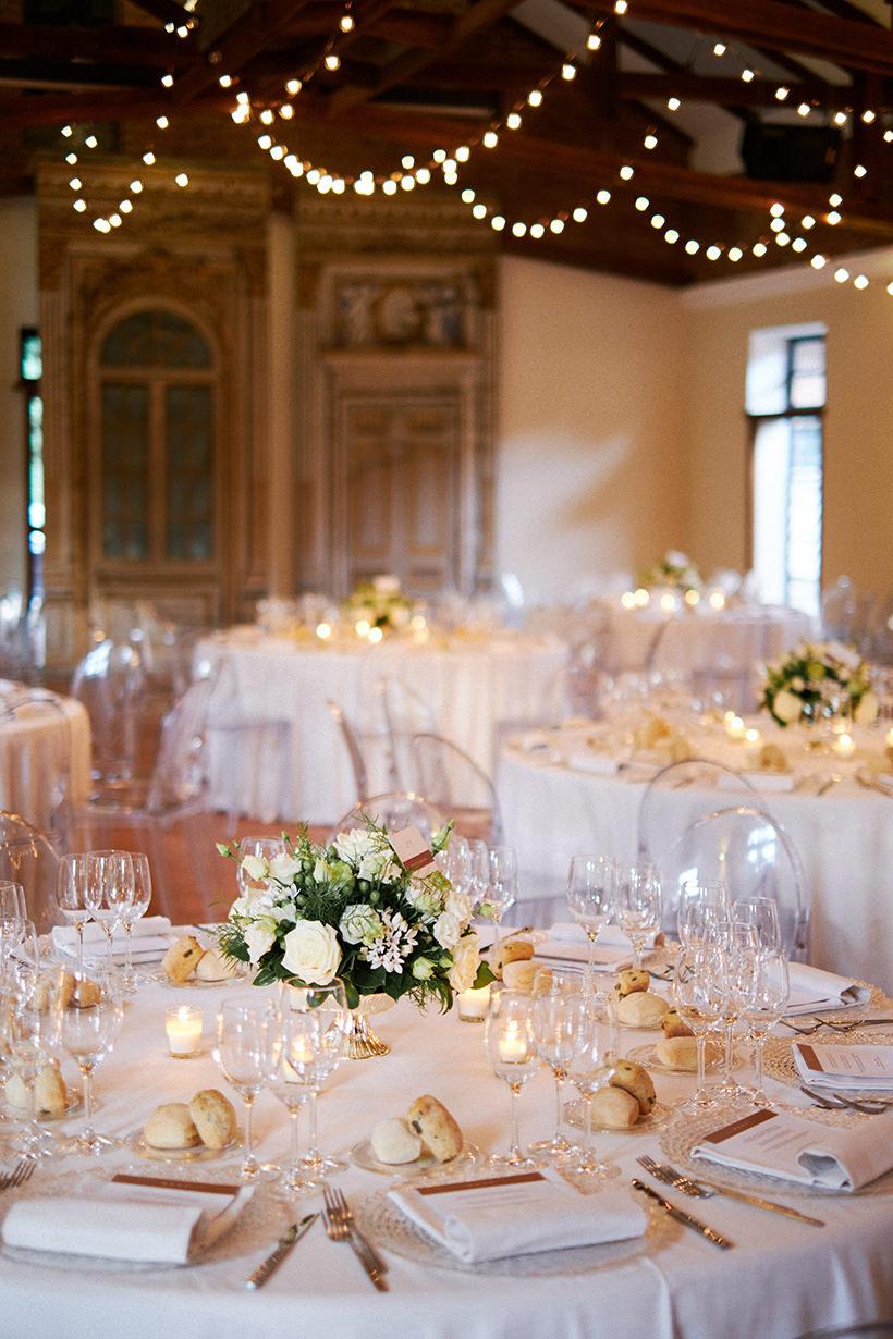tavoli matrimonio tenuta castello cerrione