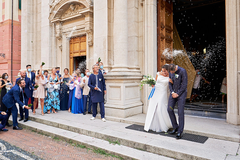 uscita sposi matrimonio varazze sant ambrogio