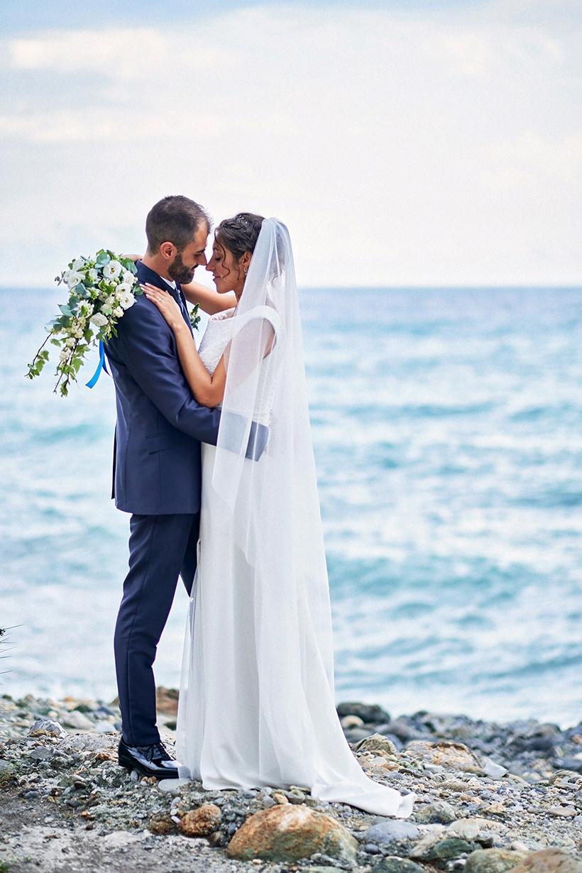 italian riviera wedding bride groom sea