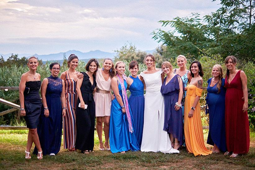 foto di gruppo matrimonio la ginestra